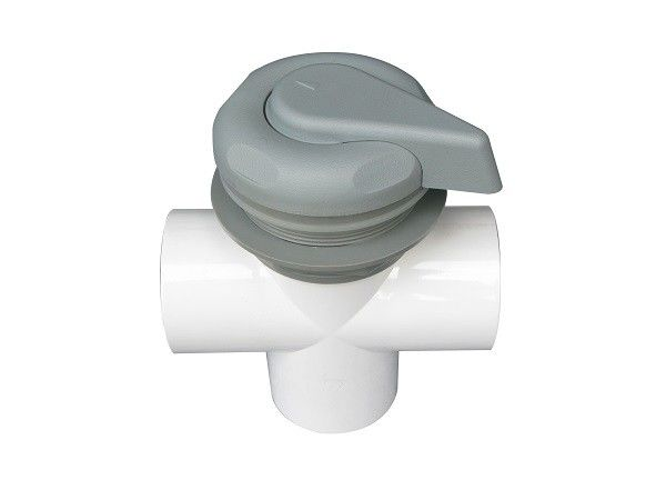 Spa Plastic Accessories Gray Color Hot Tub Gate Valve For Pvc Pipes